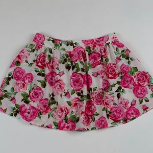 Floral pink skirt/shorts. Size XS